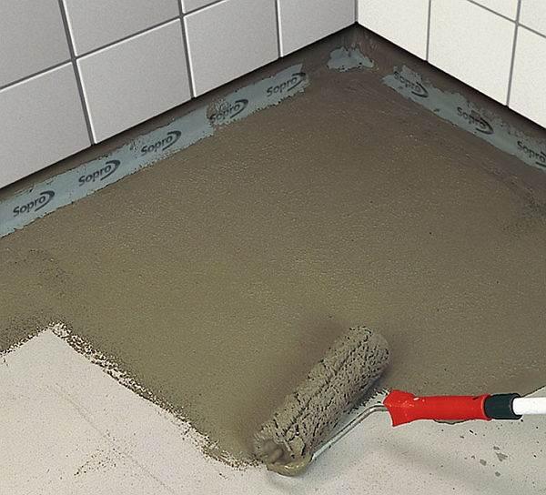 Гидроизоляция бетонного основания под плитку