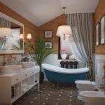 Ванная в доме из бруса