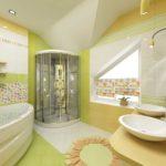 Оригинальное окно для яркой ванной