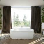 Яркий пример эко-стиля в интерьере санузла