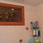 Декоративное окно с витражными нклейками