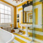 Геометрические решения в интерьере ванных комнат
