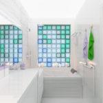 Фальшокно из разноцветных стеклоблоков