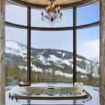 Панорамное окно с моллированным стеклом