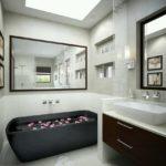 Оригинальная ванна под черный гранит