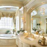Красивая ванная в класическом стиле