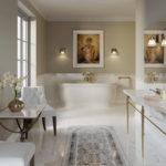 Панно на полу в ванной