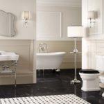 Узор на полу в ванной