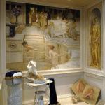 Античный рисунок в ванной
