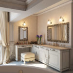 Настенная подсветка зеркал в ванной