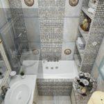 Уютная маленькая ванная комната