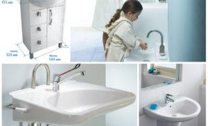 На какой высоте установить раковину в ванной, чтобы было всем удобно