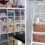 Полка с ящичками для хранения домашней утвари