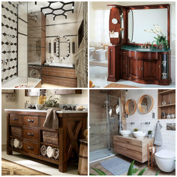 Мебель для ванной из древесины
