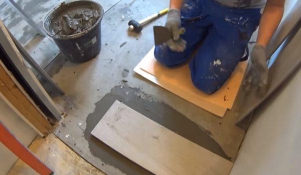 Монтаж ЦСП на деревянный пол