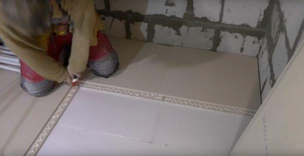 Укладка ГВЛ на деревянный пол под плитку
