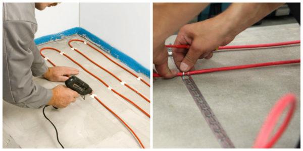 Фиксация кабеля для ЭТП
