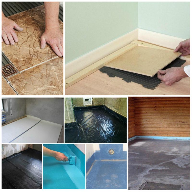 как клеить плитку на деревянный пол
