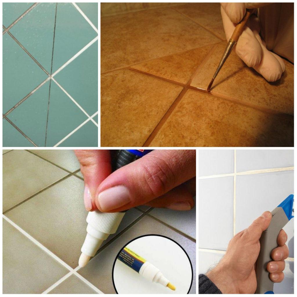 Обновление швов между плиткой