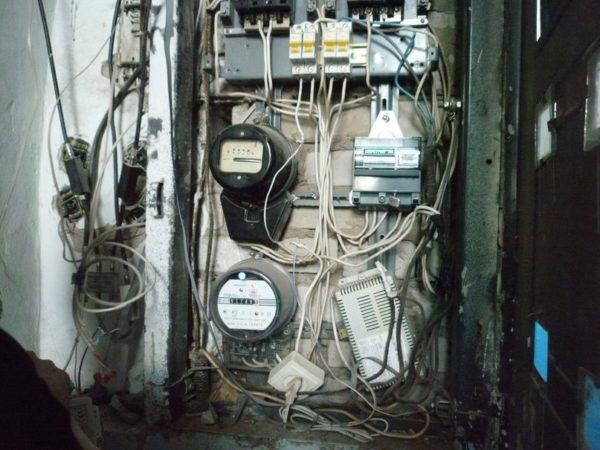 Старый электрощиток