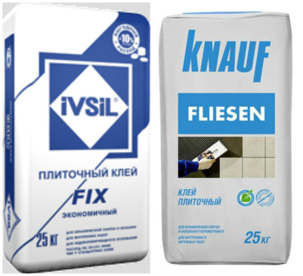 Клей IVSIL FIX и Knauf Fliesen
