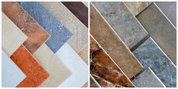 Разнообразие плитки для ванной комнаты