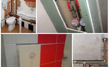 Как скрыть трубы в ванной комнате — 7 способов