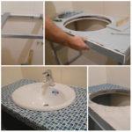 Столешница из гипсокартона для раковины в ванной