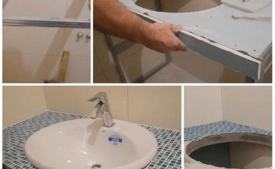 Как своими руками сделать столешницу в ванную комнату