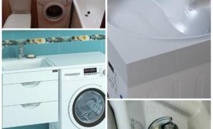 Как установить стиралку под раковину в ванной: особенности выбора и монтажа