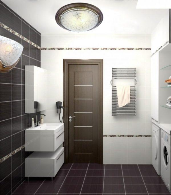 Дверь венге в ванной