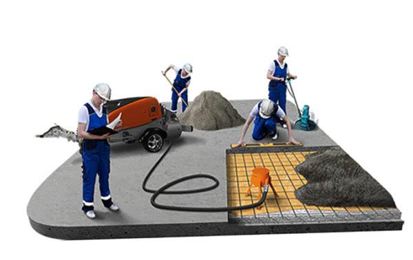 Оборудование для механизированной полусухой стяжки