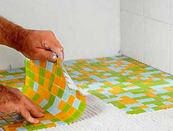Мозаичная матрица на сетке