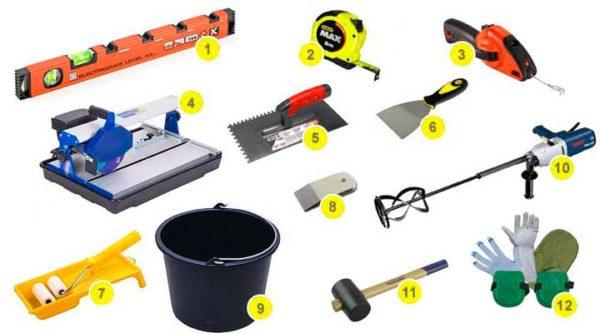 Комплект инструментов для укладки мозаики