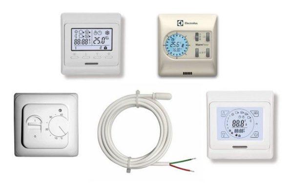 Термодатчик и различные виды терморегуляторов для теплого пола