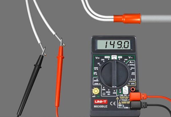 Измерение сопротивления кабеля
