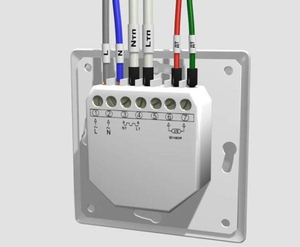Электрическое подключение терморегулятора