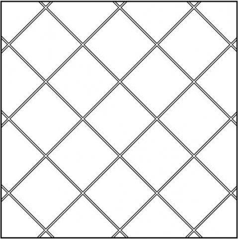 Диагональная раскладка плитки