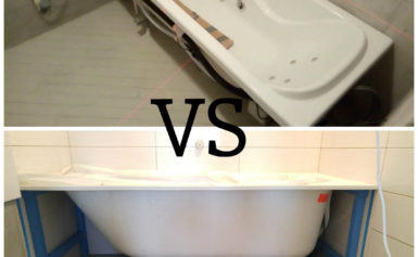 Как правильно установить ванну: до или после укладки плитки