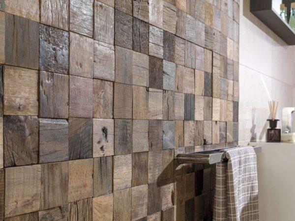 Деревянная мозаика для санузлов
