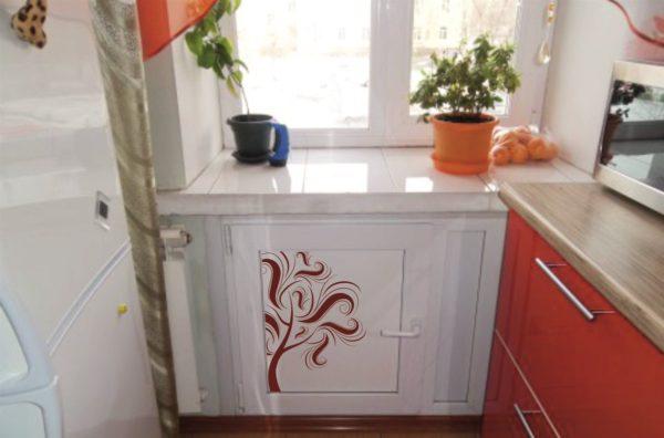 Оформление ниши в интерьере кухни