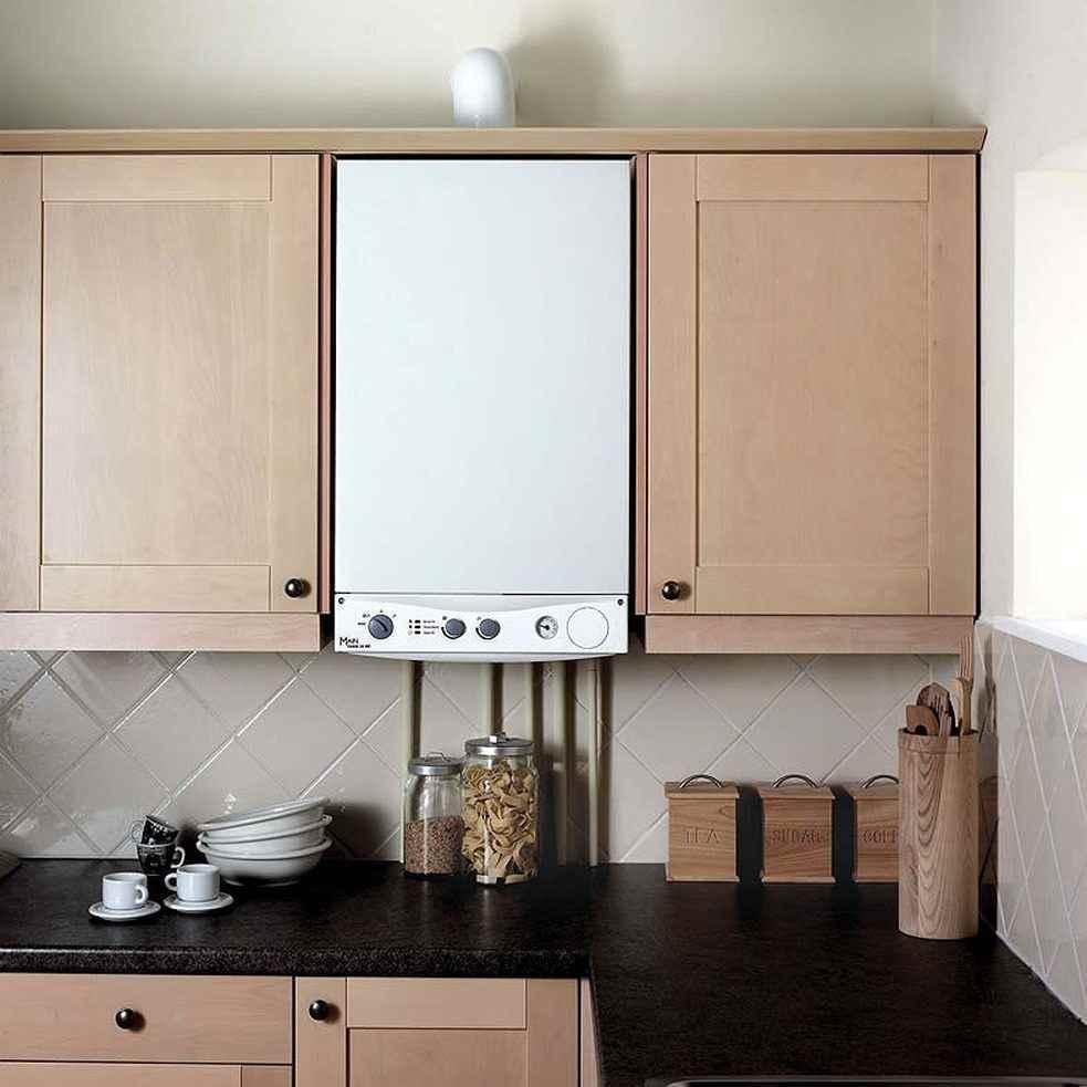 Как спрятать газовые трубы на кухне: фото удачных способов скрыть ... | 983x983