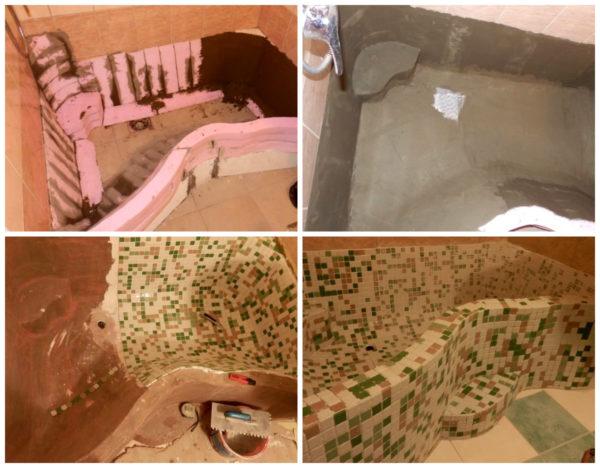 Технология изготовления ванны из кусков пенополистирола