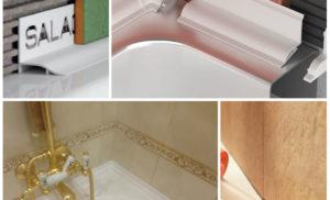 7 популярных способов как заделать стык между ванной и стеной