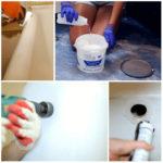 Восстановление чугунной ванны