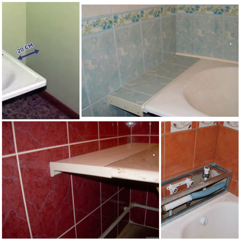 Щель между ванной и стеной