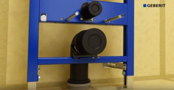 Установка крепежа сантехники и верхнего патрубка