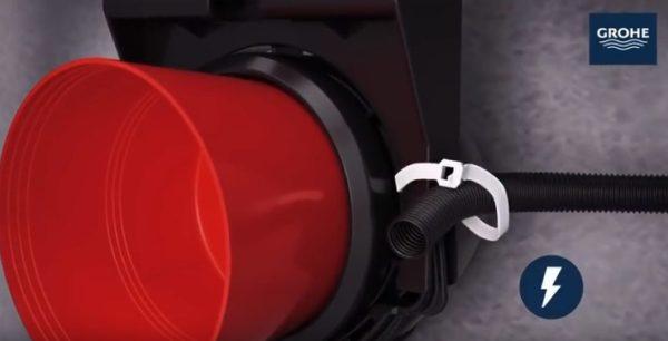 Разводка электрики для унитазов с функцией биде