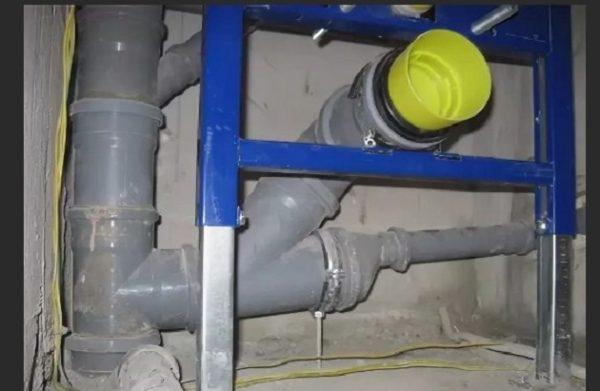 Высокий выход канализации
