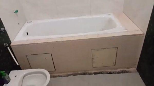 Обшитая ванна